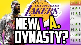 LEBRON TO LA IN 2018!? What if? NBA 2K17 My League