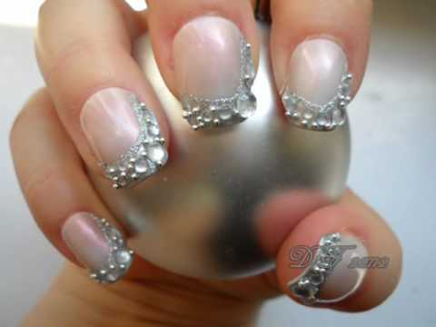 prom nail art series - silver