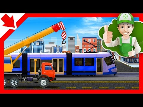 Cartoon for kids. Handy Andy about the tram. Cartoon about cars thumbnail