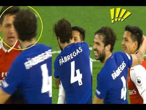 Funny fight between Fabregas & Alexis sanchez