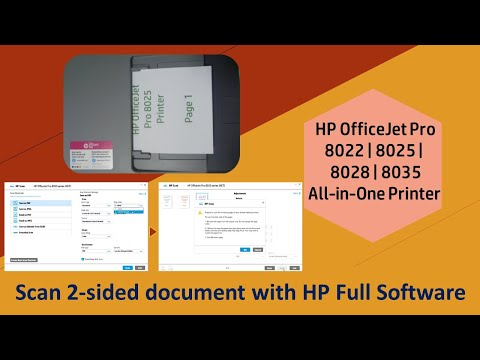 HP Officejet Pro 8025 | 8025e | 8020 | 8035 Printer : Scan 2 sided document using HP Scan