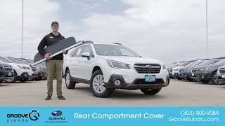 How to stow the Cargo Compartment Cover on a 2018 Subaru Outback