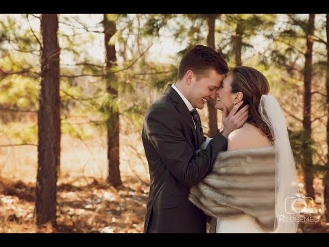 Snow and ice couldn't stop Abigail and Dane from saying I do! Wedding Film at Loughridge in Tulsa