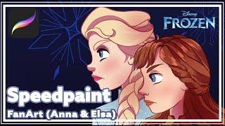 [Speedpaint] Frozen 2 - Anna and Elsa