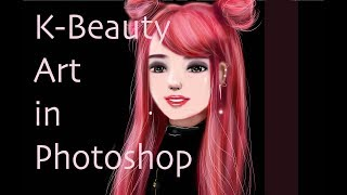 K-Beauty Art in Photoshop K-POP [ PONY SYNDROME Inspired]