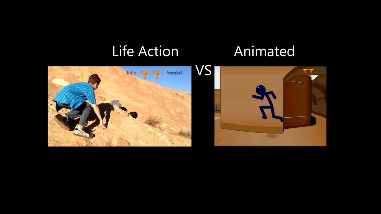 Counter Strike DE dust2 HD(Life Action and animated)