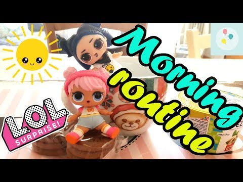 La MORNING ROUTINE delle LOL SURPRISE!!! | Scarta Regali