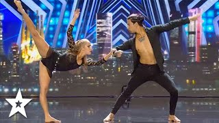 Dance Duo SHOCK Judges With DANGEROUS STUNT! | Got Talent Global