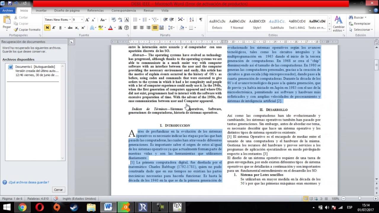 TUTORIAL COMO HACER UN FORMATO IEEE CON MITEX DESDE CERO - YouTube