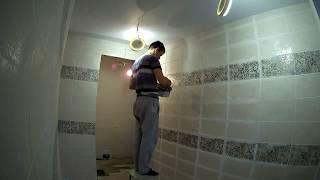 Обзор ремонта дома в ванной, плитка, полы, отопление, потолок и освещение