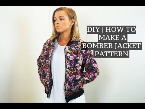 DIY   How To Make A Bomber Jacket Pattern   Josh Barnett