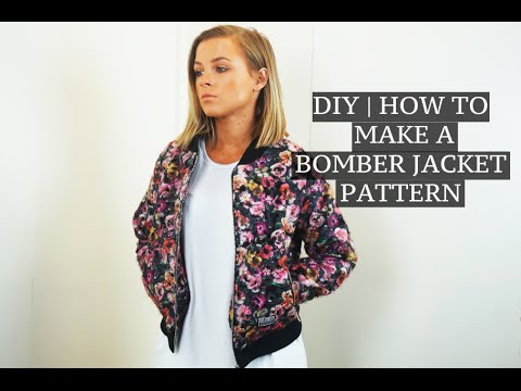 DIY | How To Make A Bomber Jacket Pattern | Josh Barnett - YouTube