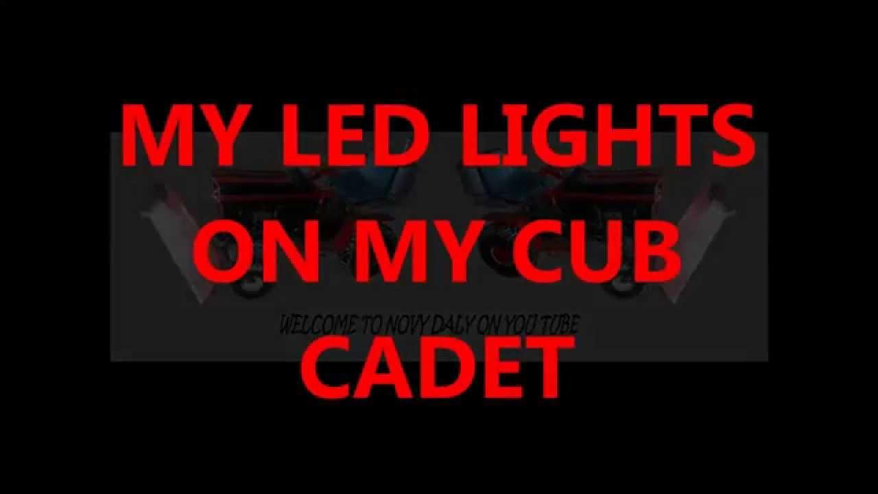 My Cub Cadet Led Lights Youtube
