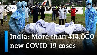 Download India shatters global record as COVID-19 cases surge again | DW News