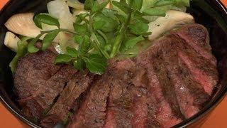 Beef Steak Donburi ビーフステーキ丼 作り方レシピ