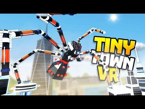 HERO ROBOT SPIDER COMES TO SAVE CITY! - Tiny Town VR Gameplay Part 34 - VR HTC Vive Gameplay