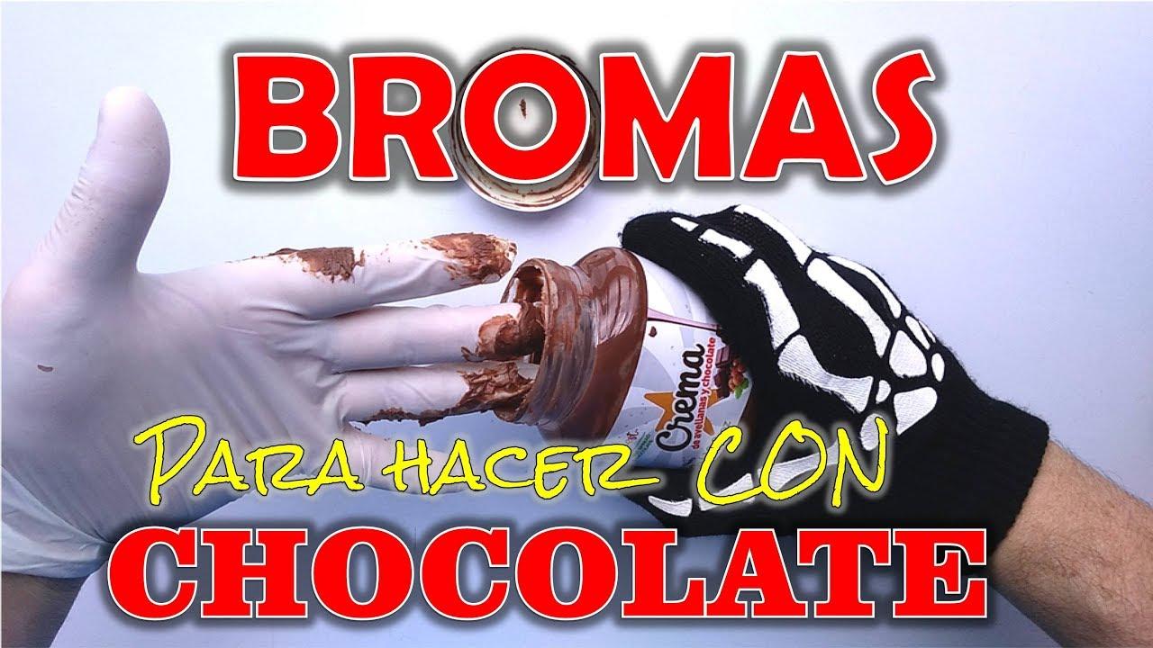 4 Bromas Fáciles para hacer con Crema de Chocolate - BROMAS PARA HACER EN CASA