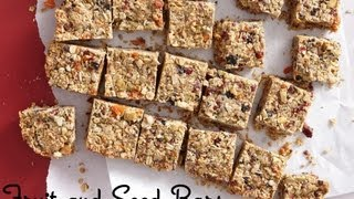 Fruit And Seed Bars: Healthy Snack Recipes - Weelicious