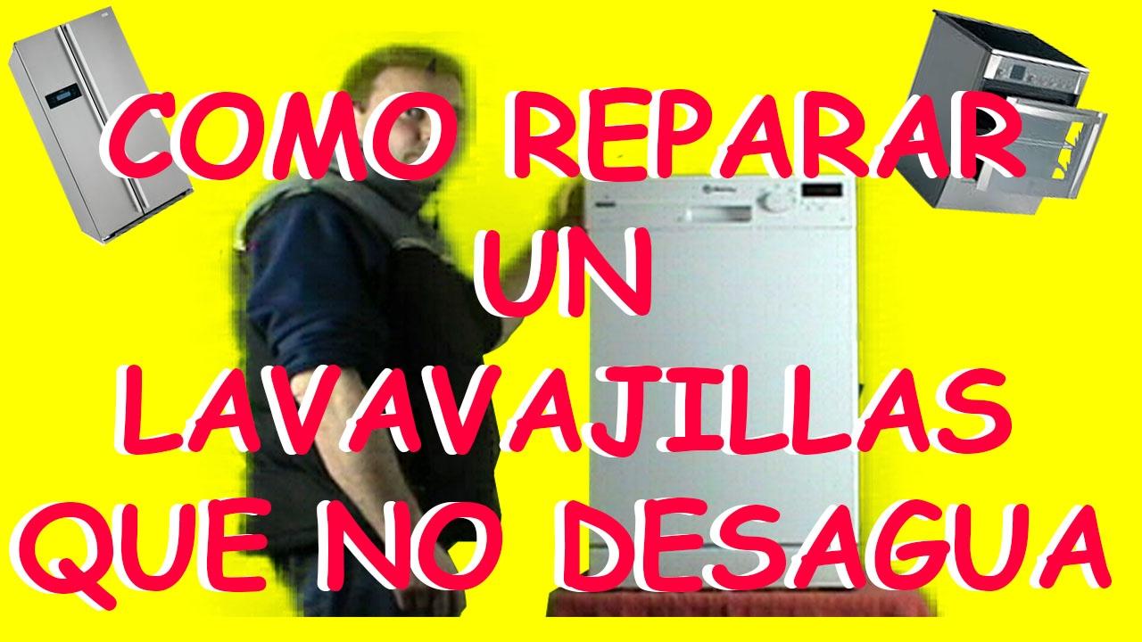Como reparar un lavavajillas que no desagua youtube for Mi lavavajillas no desagua