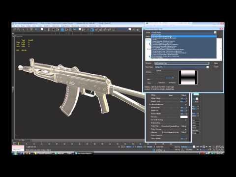 AK47 Weapon Modeling video6 baking