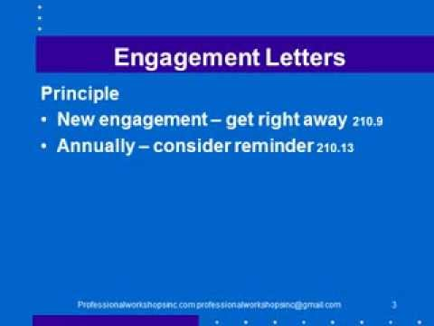 210 Engagement letter