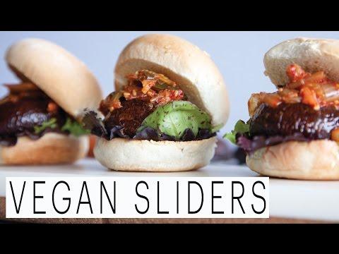 Portobello Mushroom Sliders | Veggie Burger Recipe | The Edgy Veg | Vegan Cooking and Lifestyle