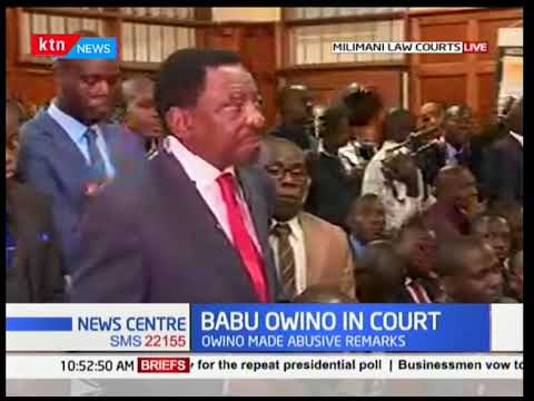 Babu Owino's legal counsel addressing the court over utterances he made against President Uhuru
