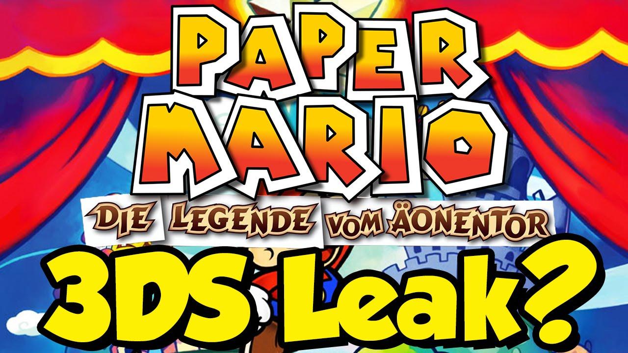 Paper Mario 2 Remake für 3DS Leak? Update: Fake!