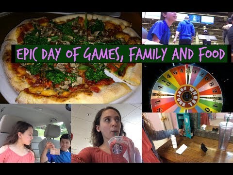 EPIC DAY OF GAMES, FAMILY AND FOOD | Zoe Rebekah
