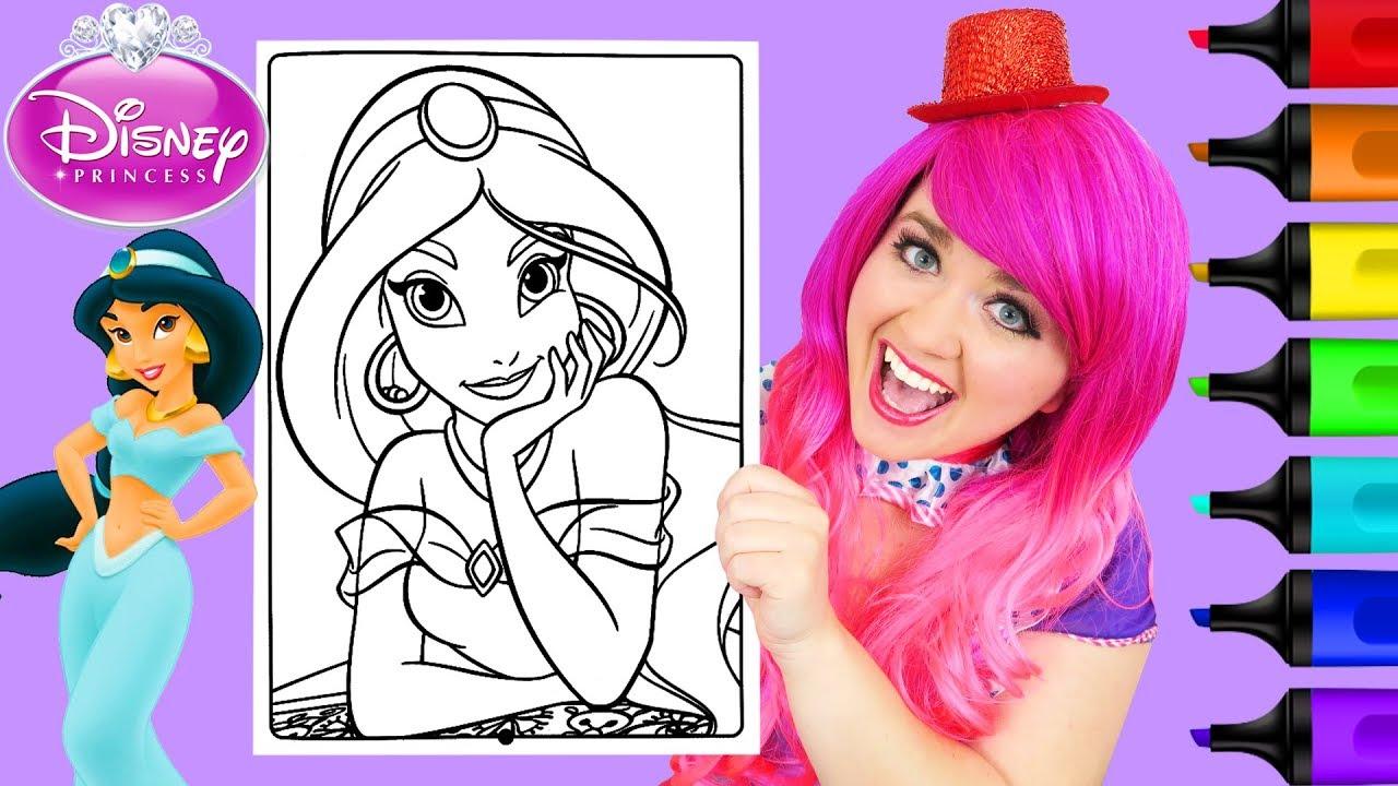 Coloring Jasmine Disney Princess Coloring Book Page