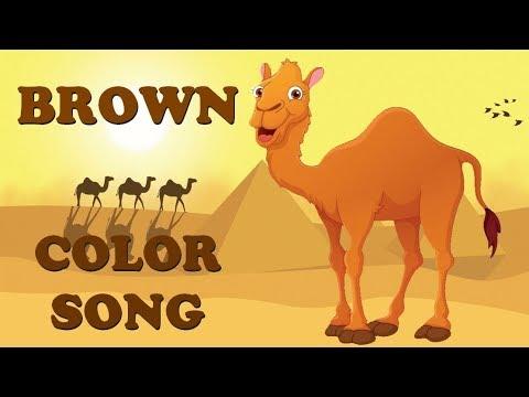 Brown color song for kids | Learn Teach Colors | Preschool Colors | Nursery Rhymes