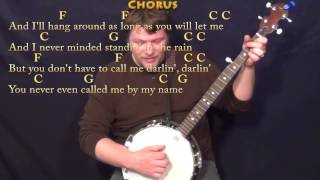 You Never Even Call Me By My Name - Banjo Cover Lesson with Chords/Lyrics