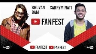 BB Ki Vines & CarryMinati TOGETHER 😍 | YouTube Fan Fest 2017 😈| Bhuvan Bam And Ajey Nagar 😎