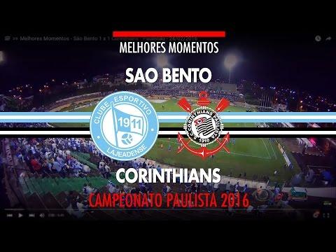 Melhores Momentos - São Bento 1 x 1 Corinthians - Paulistão - 24/02/2016