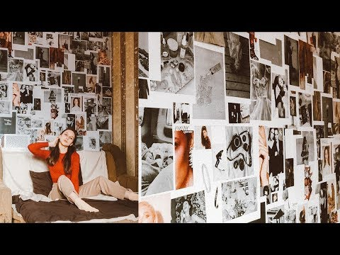 Как украсить стену в комнате фотографиями