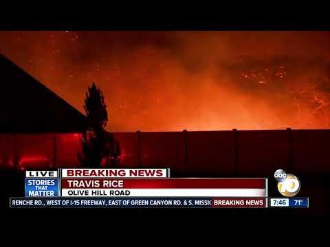 Lilac Fire seen near North County neighborhood