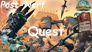 Hearthstone: Quest Warrior Post-Nerf #2: Witchwood (Bosque das Bruxas) - Standard Constructed