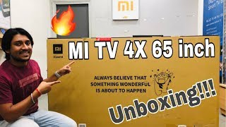 MI TV 4X - 65 INCH detail UNBOXING in HINDI | 4K ULTRA HD | ANDROID TV | PRIME VIDEO, NETFLIX...🔥🔥🔥