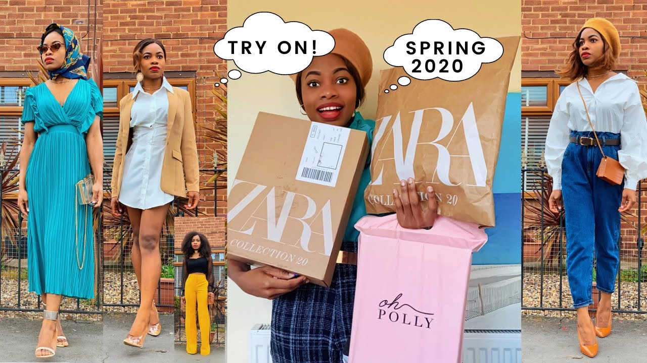 HUGE ZARA VS OH POLLY Unboxing and Try on Haul! 6 Spring | Summer 2020 Outfit ideas! |ALIEXPRESS
