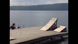 Man Bikes Into Lake