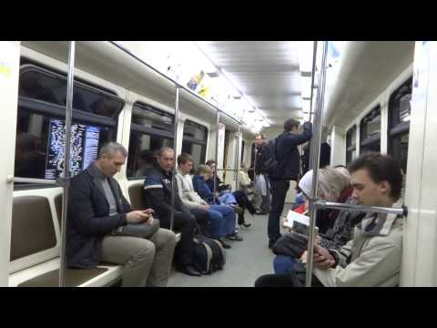 Inside the metro in  Moscow, Russia
