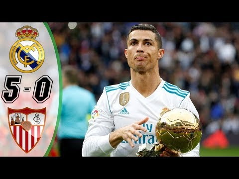 Real Madrid vs Sevilla 5-0 [HD] All Goals | COPE | Liga 2017/2018