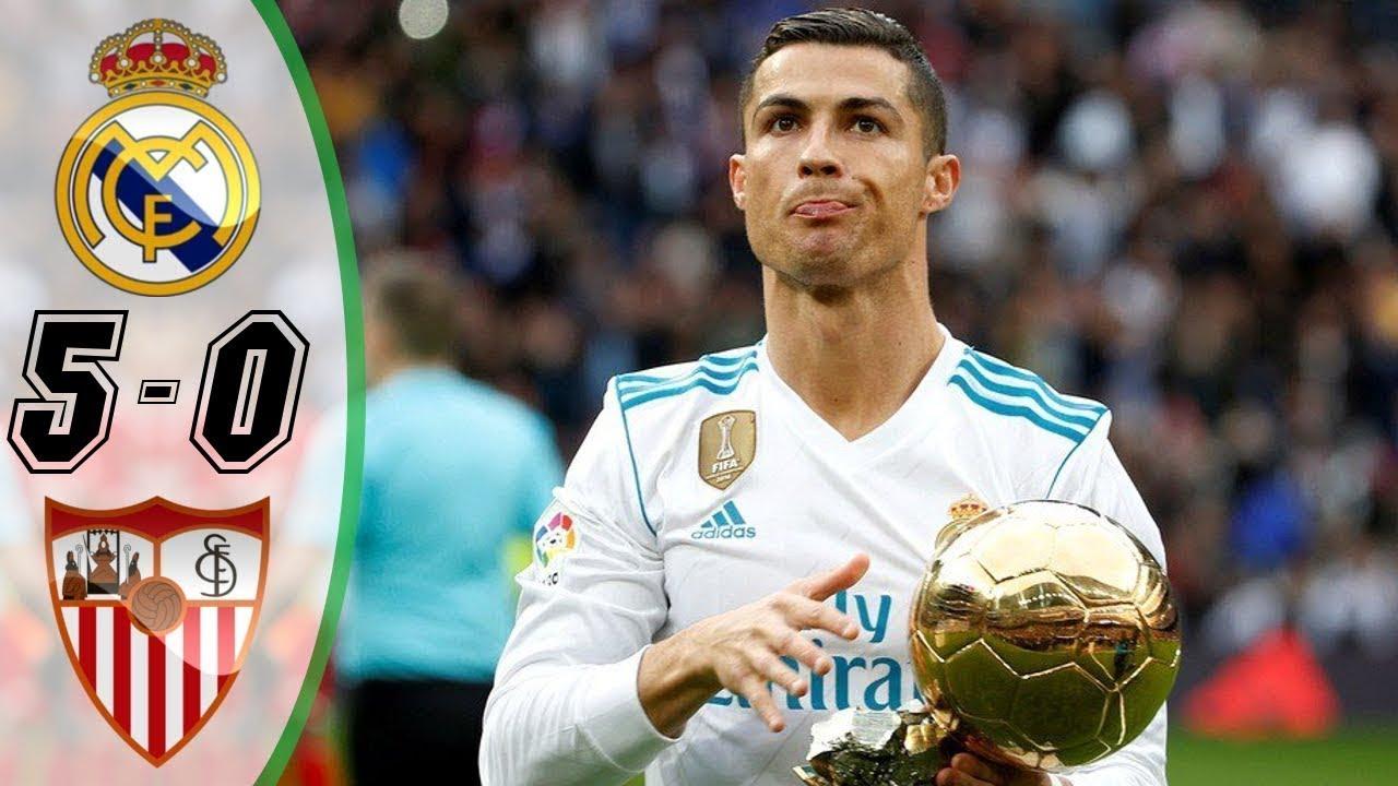 Real Madrid vs Sevilla 5-0 [HD] All Goals | COPE | Liga ...