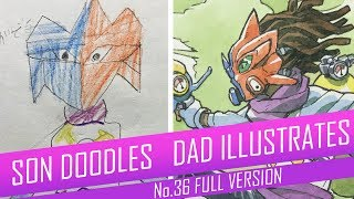 DRAWING with my kids - TOXIC SWORDSMAN [FULL VERSION] No.36