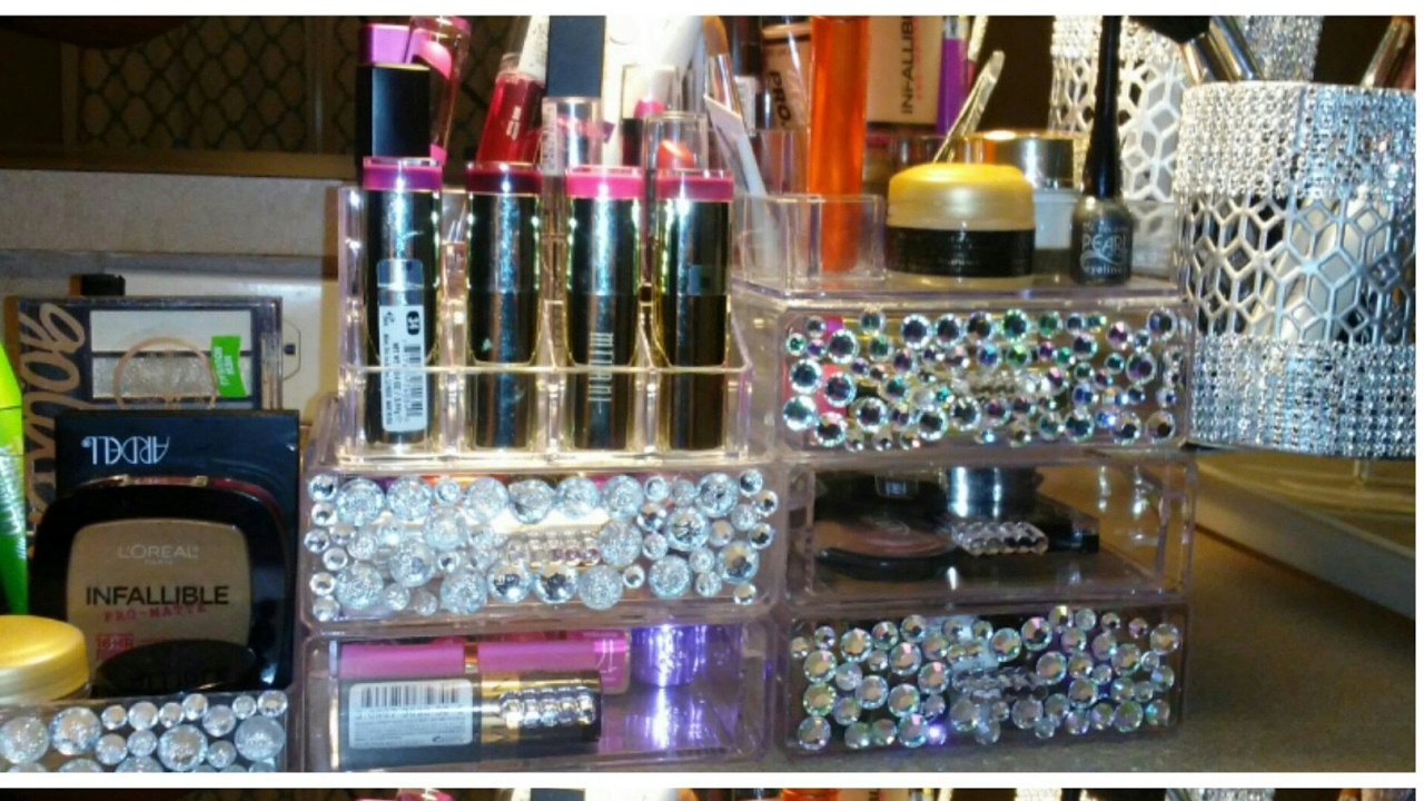 Dollar Tree Diy Acrylic Makeup Organizer With Floating