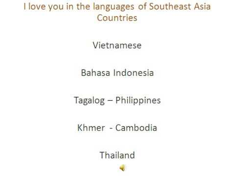 I love you in the languages of Southeast Asia countries