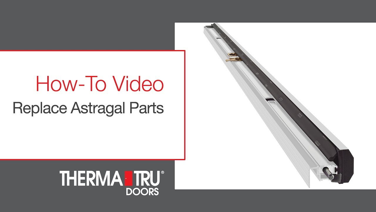 How To Replace Astragal Parts Youtube