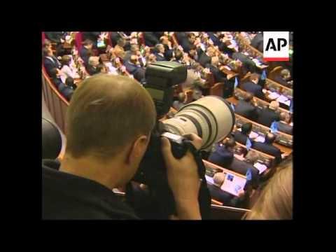AP pix as Tymoshenko elected Ukrainian prime minister