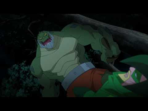 Green Arrow VS Killer Croc (Batman Unlimited: Animal Instincts)
