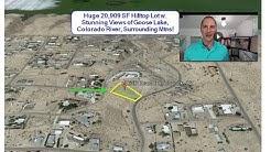 Topock, AZ - Near 1/2 Acre Hilltop Lot w. Stunning Views, Utilities, 3 mi. to Colorado River!